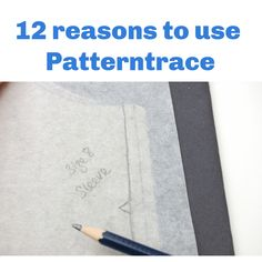 Benefits of using Swedish Tracing Paper - Patterntrace Pattern Drafting Tutorials, Sewing Patterns, Dress Making Patterns, Sewing Kit, Folded Up, Pattern Paper, Dressmaking, Diy Fashion, Embroidery