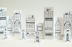 So fun for kids! Print out the paper city and vehicles, and let them color! Made by Joel Paper City Vehicles 1 Art For Kids, Crafts For Kids, Arts And Crafts, Paper Art, Paper Crafts, Rainy Day Activities, To Color, Printable Paper, Paper Toys