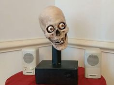 Fear Alexa with this macabre talking skull voice assistant     - CNET  Alexa will you haunt my nightmares? The answer is a resounding yes! if you can combine a moving skull robot with Amazons voice assistant.   YouTube user ViennaMike a self-described aspiring roboticist posted a video of exactly this creepy creation in early March. It was brought to our attention Monday by Mashable.   The infamous Alexa Billy Bass a hack that combines Alexa with a fake flopping fish inspired the skull…