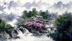 Page 37 Buy Chinese landscape paintings from China & World's Largest Online Chinese Painting Gallery. Asian oriental landscape paintings for sale. Chinese Landscape Painting, Chinese Painting, Landscape Paintings, Painting Gallery, Ink Painting, Chinese Mountains, China World, Warring States Period, Paintings For Sale