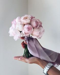 Looking for bouquet inspiration for your wedding day? Browse through this breathtaking selection of bridal bouquets to find the perfect one for you. Bridal Bouquet Pink, Bride Bouquets, Bridal Flowers, Flower Bouquet Wedding, Bridesmaid Bouquet, Peonies Bouquet, Pink Peonies, Peonies Wedding Bouquets, Purple Bouquets
