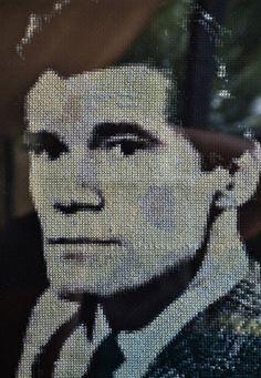 Dark Shadows Cross Stitch Portrait-Burke Devlin by JLCampbell