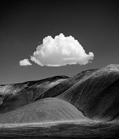 Cloud and Hills, Arizona  - Even in black and white, it's beautiful.