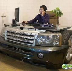 CAR DESK- only a man would love this! #mancave #sydney