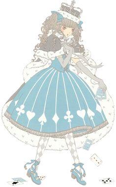 An Angelic Pretty issutration by Imai Kira / 今井キラ. #Gothic #Lolita