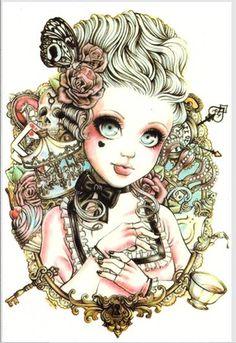 ボディアート美容メイクロージー危険なセクシーなかわいい女の子人形タトゥー10d防水テンポラリータトゥーステッカー