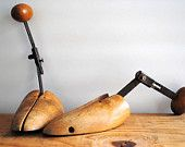Pair of Vintage Wood Shoe Forms - Two Wooden Shoe Stretchers Vintage Shoes, Vintage Wood, Shoe Stretcher, Wooden Shoe, Shoe Last, Eco Friendly, Great Gifts, Etsy, Antique Wood