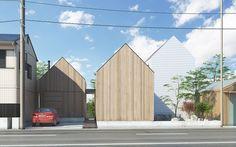 和xモダンの要素を取り入れた家族4人のための住宅です。  日本の住宅様式の代表とされる寝殿造の対屋の発想を取り入れました