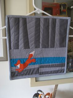 Fox in the Woods mini quilt by MissEnota, via Flickr