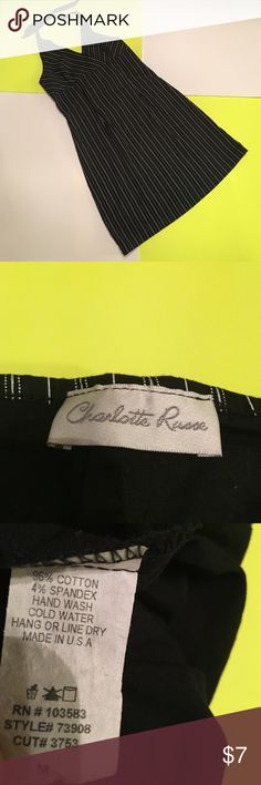Charlotte Russe Holter Dress Great condition. Black/white stripe. Smoke free home. 💥Price is negotiable💥  🔥Offers are considered🔥 📦Same day or next day mail out if not on the weekend📦 Bundle 2 or more and get 15% off. BUNDLE 6 OR MORE AND I WILL REIMBURSE THE SHIPPING FEE. Charlotte Russe Dresses