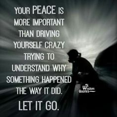 Your peace is more important than driving yourself crazy trying to understand why something happened the way it did.  Let it go.