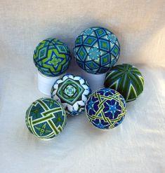 Temari balls - Water series