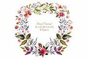 Adorable watercolor flowers and watercolor wreath design elements. Love this collection. Perfect for cards and other designs!