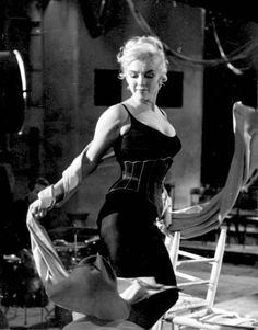 """Marilyn on the set of """"Let's Make Love"""", 1960."""