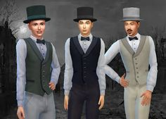 My Stuff: Victorian Fashion for Men (Hat + Vest) | Sims 4 Updates -♦- Sims Finds & Sims Must Haves -♦- Free Sims Downloads