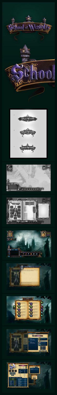 School of Wizardry GUI Game Design by karsten on deviantART