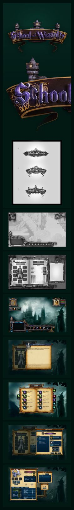 School of Wizardry GUI Game Design by karsten on deviantART