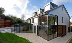 A home built in the 1980's is now a beautiful contemporary residence.. Transformation and Renovation of a 1980's Home in England