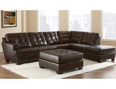 Soho 3 Piece Leather Sectional (Sofa+Chaise+Ottoman) 1,199.99  ******In Store Pick up If not in the Dallas Area******    Contact Jay Kemp for additional information and questions regarding warranty.   Like us on Facebook for specials that we have going on and for additional information on products check us out at http://www.knoxfamilyfurniture.net