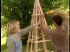 How to Build a Pyramid-Shaped Trellis Videos | Home & Garden How to's and ideas | Martha Stewart
