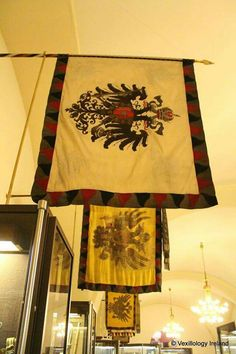 Flag hall, Military Historical Institute/ Army Museum Holy Roman Empire, Sissi, Napoleonic Wars, Coat Of Arms, Lorraine, Hungary, Austria, Flags, Stained Glass