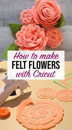 Felt Flowers Patterns, Fabric Flower Pattern, Fabric Flowers, Paper Flowers, Diy Crafts For Home Decor, Crafts To Make, Dyi Crafts, Felt Diy, Felt Crafts