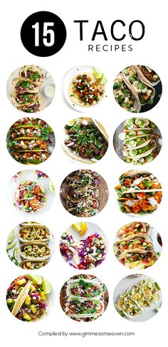 A delicious collection of 15 taco recipes from food bloggers.