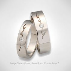 Simple and elegant, these Promise Rings are ideal for him and her.