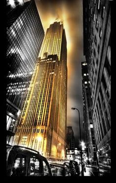 NYC, miss it, would love to move back. Color Splash, Color Pop, Colour Yellow, Foto Hdr, Images Graffiti, Voyage New York, High Building, Hdr Photography, Inspiring Photography