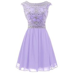 Sisjuly Women's Short Beaded Chiffon Rhinestones Cap Sleeve Cocktail... (£51) ❤ liked on Polyvore featuring dresses, beaded cocktail dress, chiffon dress, cap sleeve cocktail dress, purple beaded dress and short cocktail dresses