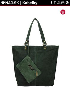 Kabelka shopper Vera Pelle MIEDŹ KR-024 GREEN-008 Michael Kors, Tote Bag, Green, Bags, Fashion, Handbags, Moda, Fashion Styles, Totes