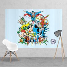 Vintage Superheroes Wallpaper Mural