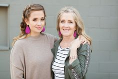 Matching leather earrings for mother and daughter! Loving this shop update from ONE little MOMMA and Nickel & Suede: The Perfect Gift for Mother's Day