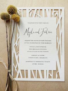Woodland Wedding Invitation