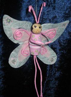 Schmetterling aus Tontopf