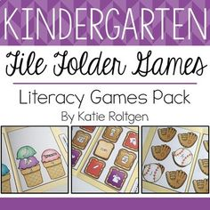 Kindergarten File Folder Games {Literacy Pack} Use this download of 24 file folder games to cover a variety of literacy skills with your kinder classroom or homeschool students. You get labels, game mats, and game pieces. These work great for individual learning centers, small group guided practice, special education skill targeting or remedial practices, morning activities, and early or fast finisher materials. Click through to check these out today!