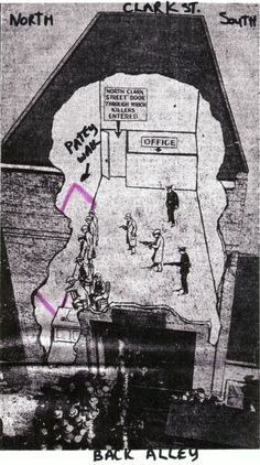 The St. Valentines Day Massacre, Chicago Outfit, Al Capone, Red Arrow, Chicago Tribune, The St, Rackets, Brick Wall, Bricks
