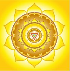"""Third: This chakras Sanskrit name is """"Manipura"""" meaning """"Lustrous gem"""" relates to personal power. It's flower symbol is an yellow lotus with 10 petals. It is known as our fire center. Associated with the element of fire, the power of combustion, and the inner processes of digestion and metabolism, this energy center manifest our abilities of creativity and transformation."""