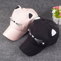 "Cute cat baseball cap  Coupon code ""cutekawaii"" for 10% off"