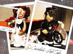 Caricature - Top cake (commissionate per matrimonio). Materiale: pasta polimerica.