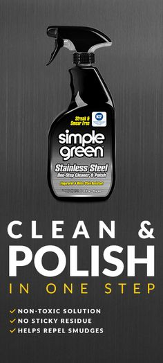 This ready-to-use, high-tech formula is perfect for cleaning and maintaining high-end, chrome and stainless steel appliances and surfaces found in modern kitchens. It both cleans and helps prevent smudges, streaks, and fingerprints. The non-toxic* formula sprays on and instantly wipes clean for a deep luster and doesn't build up on surfaces so it's perfect for everyday use.