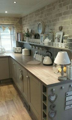 Supreme Kitchen Remodeling Choosing Your New Kitchen Countertops Ideas. Mind Blowing Kitchen Remodeling Choosing Your New Kitchen Countertops Ideas. Farmhouse Kitchen Decor, Home Decor Kitchen, Kitchen Interior, New Kitchen, Home Kitchens, Kitchen Grey, Kitchen Colors, Kitchen Country, Kitchen Paint