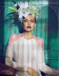{editorials} Frida Inspired: Åsa Engström Evokes Frida Kahlo in DV Mode Magazine | TheFashioniStyle
