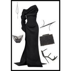 Black is not sad - Black is ALL - Monochrome-All Black Everything by b-whalley on Polyvore featuring Giuseppe Zanotti, Plukka and Diane Kordas