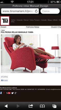 Poltrone relax manuali Design - Tino Mariani