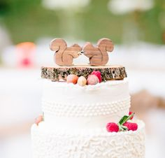 Squirrel Cake Topper Mini Woodland Wedding by AgainstTheGrainNC Could do something on my own, Michaels!