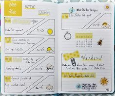 What the Fox stickers, Pink and Main stamps, Erin Condren hardbound