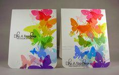 Rainbow butterflies by MISTER Cardmaker