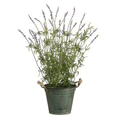 32 Lavender Herb Silk Flower Arrangement -Lavender This listing is for 1 case. You will receive 1 item per case, 1 item shown in picture.. Height - 32. Pot - Includes Shown Decorative Tin Pot.  #SilksAreForever #Home
