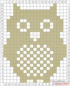 - Knitting and Crochet - Best Knitting Pattern Owl count pattern . - knitting and crochet History of Knitting Wool spinning, weaving . Filet Crochet Charts, Knitting Charts, Knitting Stitches, Knitting Patterns, Crochet Patterns, Crochet Pixel, Crochet Owls, Knit Crochet, Crochet Owl Blanket